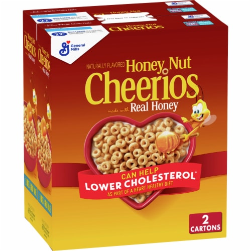 Honey Nut Cheerios Cereal Twin Pack Perspective: front