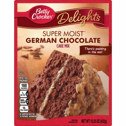 Betty Crocker Delights Super Moist German Chocolate Cake Mix Perspective: front