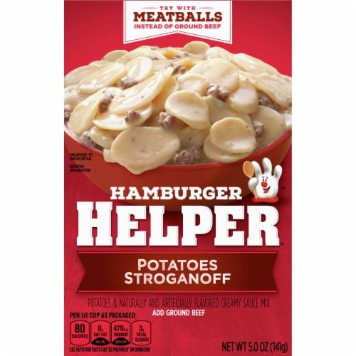 Hamburger Helper Potatoes Stroganoff Perspective: front
