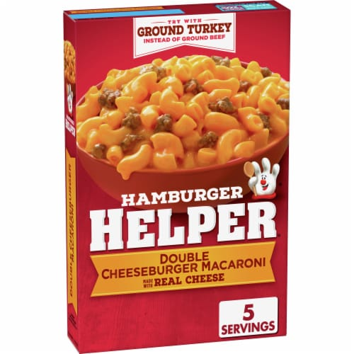 Hamburger Helper Double Cheeseburger Macaroni Meal Perspective: front