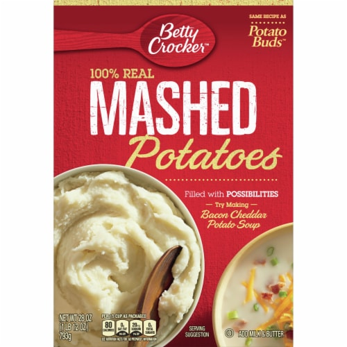 Betty Crocker Mashed Potatoes Perspective: front
