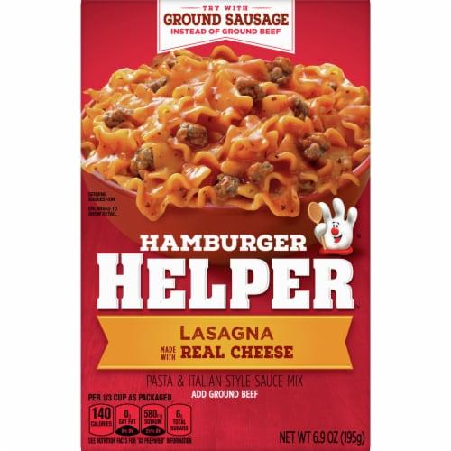Hamburger Helper Lasagna Perspective: front