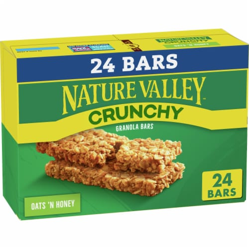 Nature Valley Oats and Honey Crunchy Granola Bars Perspective: front