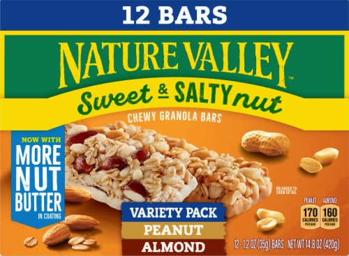 Nature Valley Sweet & Salty Nut Granola Bars Variety Pack Perspective: front