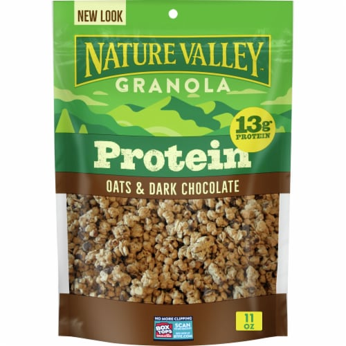 Nature Valley™ Oats & Dark Chocolate Protein Granola Perspective: front