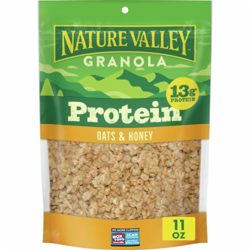 Nature Valley Oats & Honey Protein Granola Perspective: front