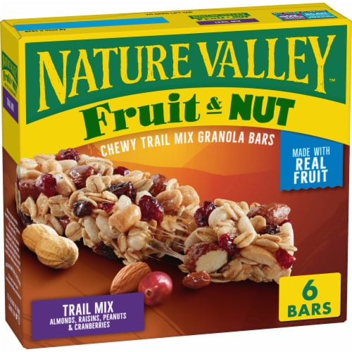 Nature Valley Fruit & Nut Chewy Trail Mix Granola Bars Perspective: front