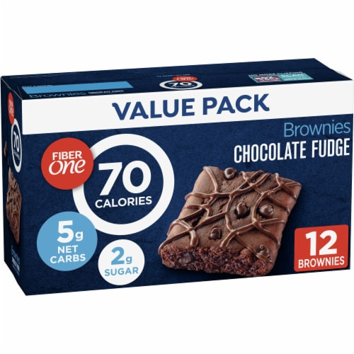 Fiber One 70 Calorie Chocolate Fudge Brownies Perspective: front