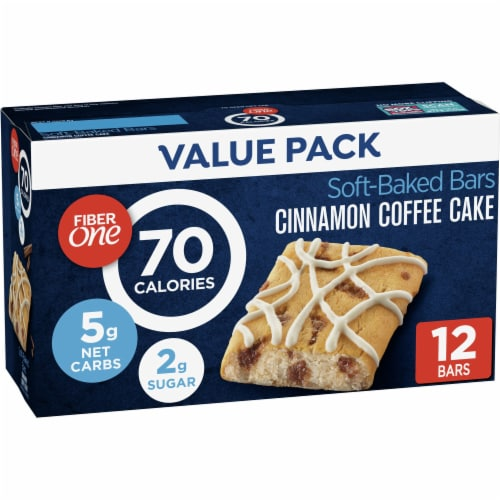 Fiber One 70 Calorie Cinnamon Coffee Cake Soft-Baked Bars Value Pack Perspective: front