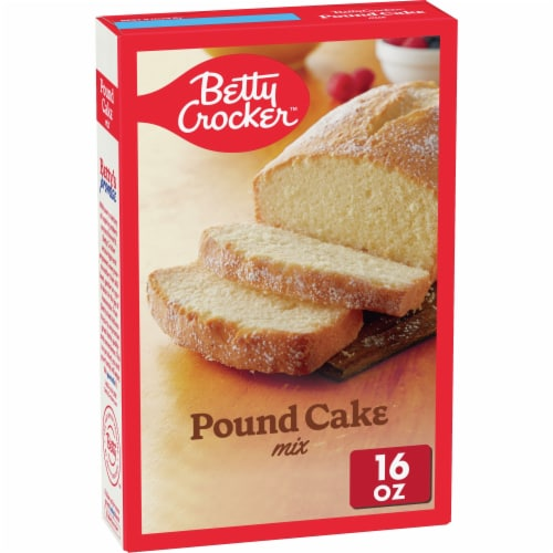 Betty Crocker Pound Cake Mix Perspective: front