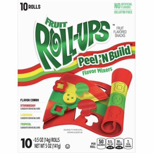 Fruit Roll-Ups Flavor Mixers Fruit Snack Rolls Perspective: front