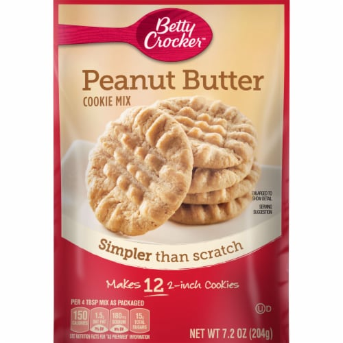 Betty Crocker Peanut Butter Snack Size Cookie Mix Perspective: front