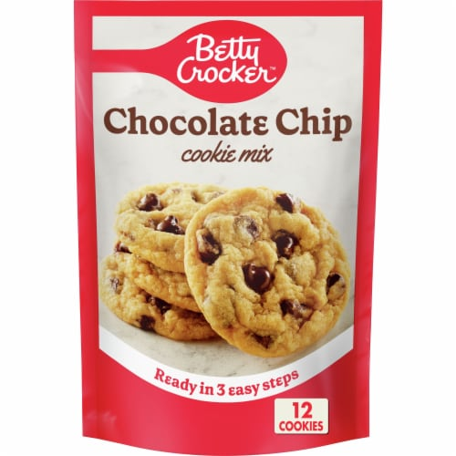 Betty Crocker Chocolate Chip Snack Size Cookie Mix Perspective: front
