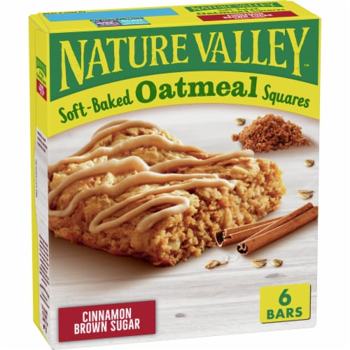 Nature Valley Soft Baked Cinnamon Brown Sugar Oatmeal Squares Perspective: front