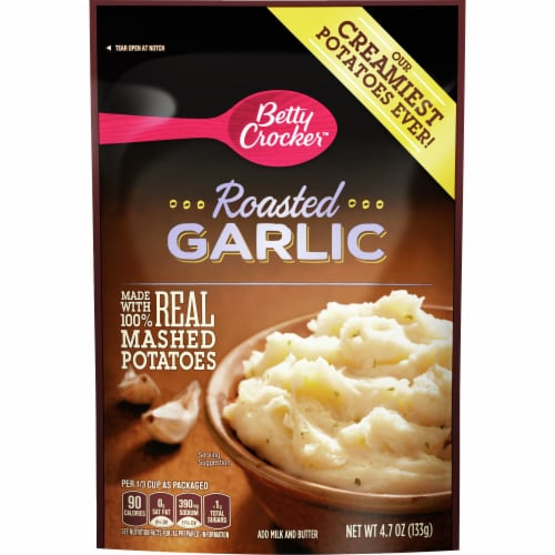 Betty Crocker Roasted Garlic Mashed Potatoes Perspective: front