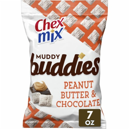 Chex Mix Muddy Buddies Peanut Butter & Chocolate Snack Mix Perspective: front