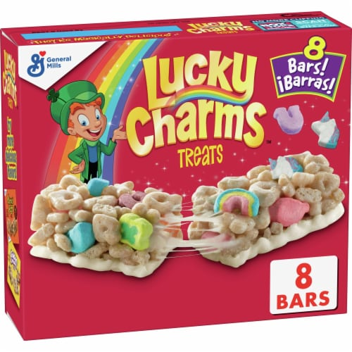Lucky Charms Marshmallow Treat Cereal Bars Perspective: front