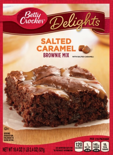 Betty Crocker Delights Salted Caramel Brownie Mix Perspective: front