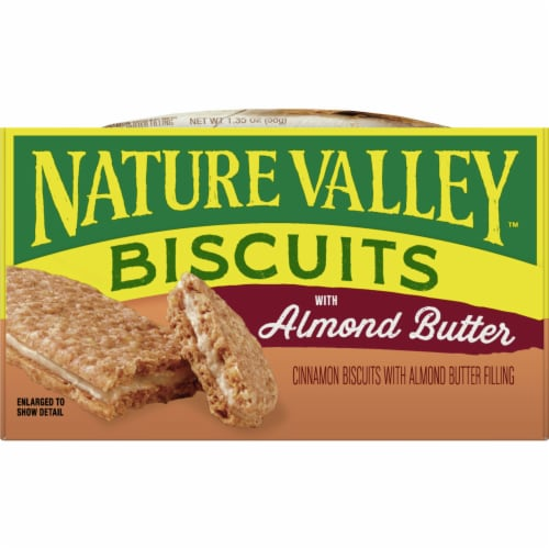 Nature Valley Biscuits with Almond Butter Perspective: front