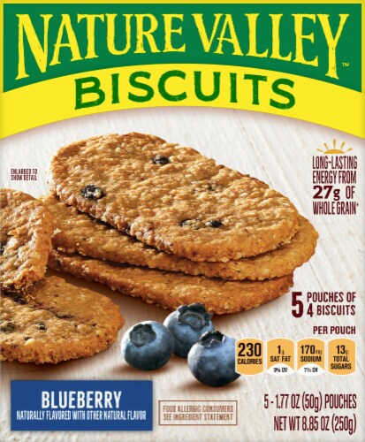 Nature Valley Blueberry Biscuits 5 Count Perspective: front