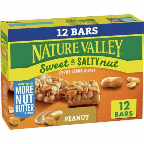 Nature Valley Sweet & Salty Nut Peanut Granola Bars Perspective: front