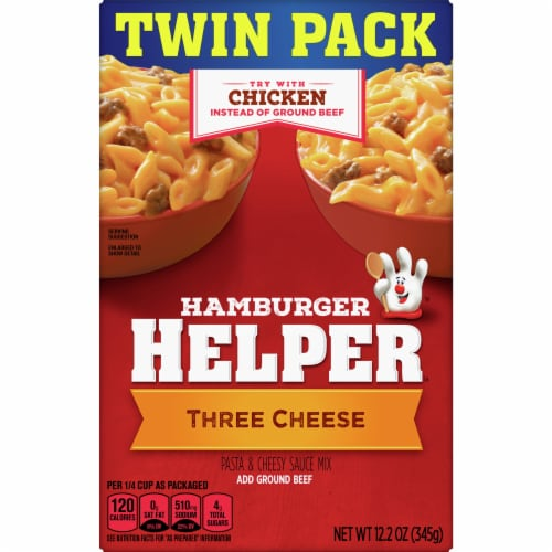 Hamburger Helper Three Cheese Pasta & Sauce Mix Twin Pack Perspective: front
