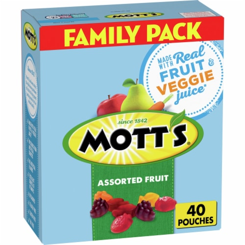 Mott's Assorted Fruit Flavor Snacks Family Size Perspective: front