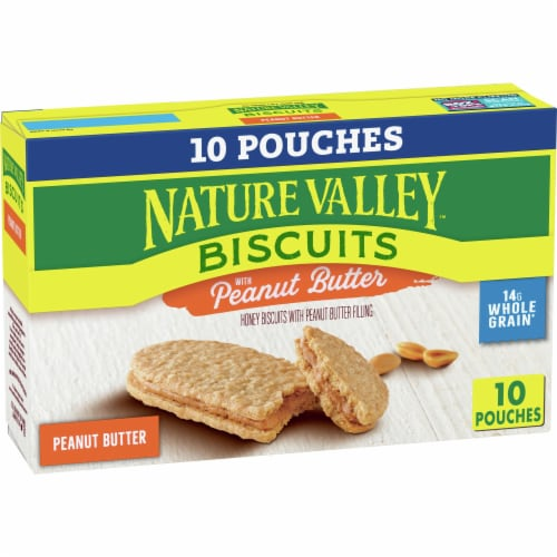 Nature Valley Honey Biscuits with Peanut Butter Filling Perspective: front