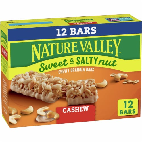 Nature Valley Sweet & Salty Nut Cashew Granola Bars Value Pack Perspective: front