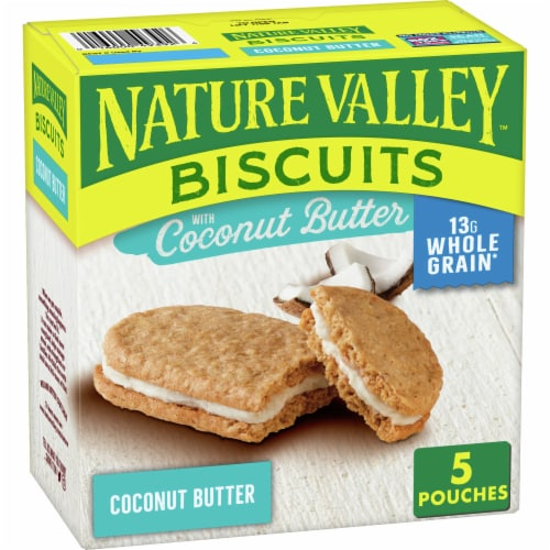 Nature Valley Coconut Butter Biscuits Perspective: front
