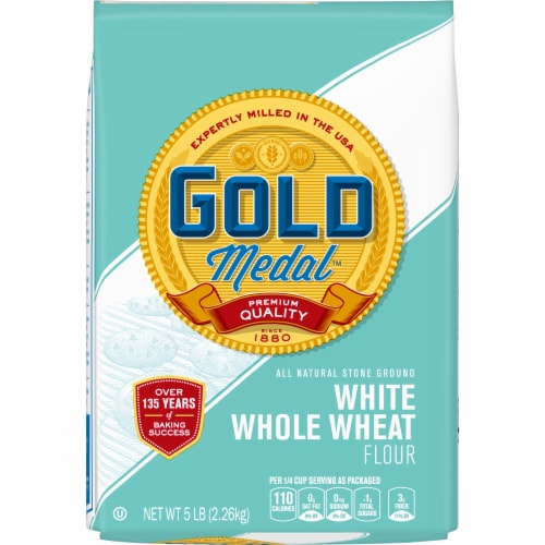 Gold Medal White Whole Wheat Flour Perspective: front