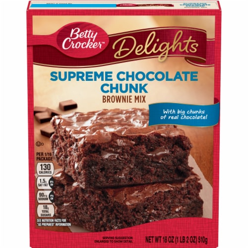Betty Crocker Delights Supreme Chocolate Chunk Brownie Mix Perspective: front