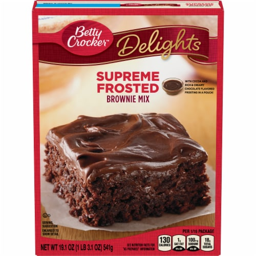 Betty Crocker Delights Supreme Frosted Brownie Mix Perspective: front