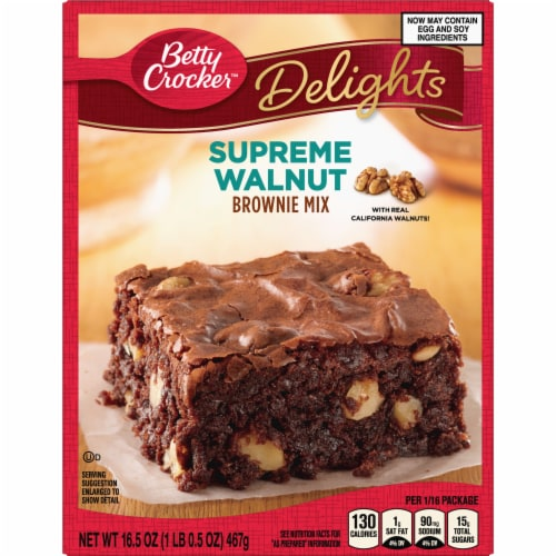 Betty Crocker Delights Supreme Walnut Brownie Mix Perspective: front