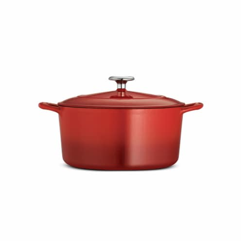 Tramontina Covered Round Dutch Oven - Red Perspective: front