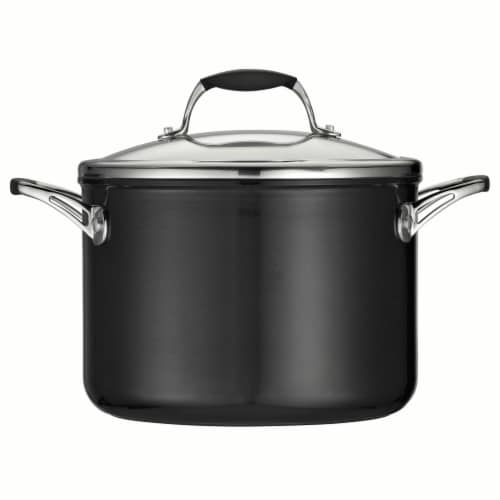 Tramontina Gourmet Covered Sauce Pot - Black Perspective: front