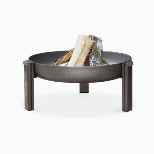 Curonian 63Tilsit Tilsit Solid Steel Wood Burning Fire Pit Perspective: front