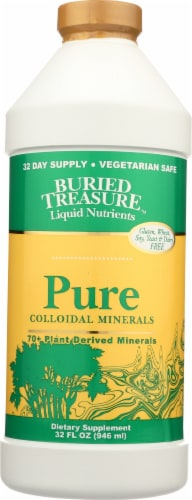 Buried Treasure 70+ Pure Colloidal Mineral Perspective: front