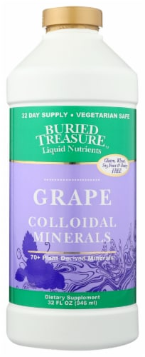 Buried Treasure 70 Plus Plant Minerals Grape Flavor Perspective: front