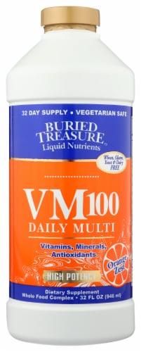 Buried Treasure VM-100 Complete Orange Zest Flavor Liquid Supplement Perspective: front
