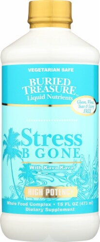 Buried Treasure Stress Be Gone Liquid Dietary Supplement Perspective: front