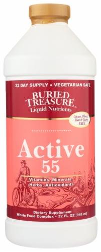 Buried Treasure™ Active 55 Liquid Nutrients Dietary Supplement Perspective: front