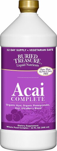 Buried Treasure Acai Complete Dietary Supplement Perspective: front