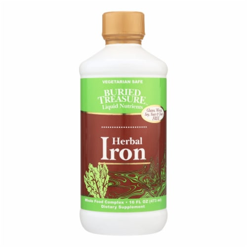 Buried Treasure™ Herbal Iron Liquid Perspective: front