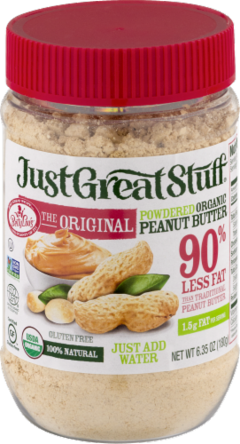 Just Great Stuff Organic Powdered Peanut Butter Perspective: front