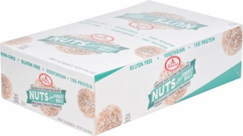 Betty Lou's Coconut Macadamia Nuts About Energy Balls Perspective: front