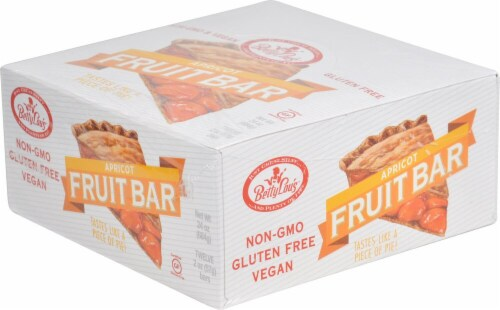 Betty Lou's Gluten Free Apricot Fruit Bars Perspective: front