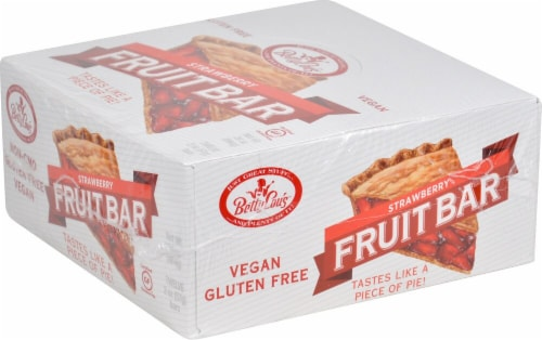 Betty Lou's  Gluten Free Fruit Bars   Strawberry Perspective: front