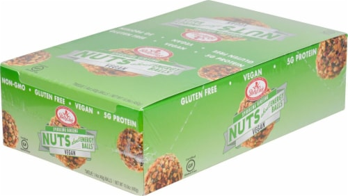 Betty Lou's  Nuts about Protein Plus Energy Balls   Spirulina Ginseng Perspective: front