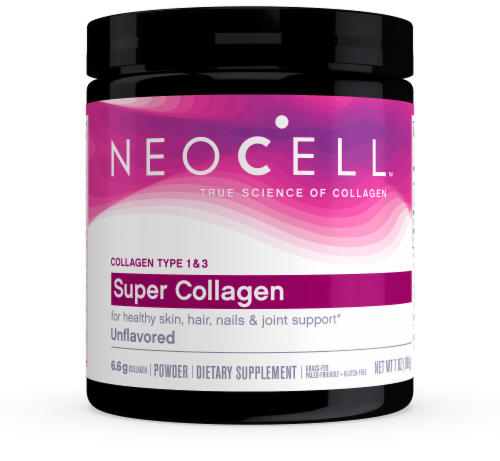 NeoCell Super Collagen 6600 mg Type 1 & 3 Dietary Supplement Powder Perspective: front